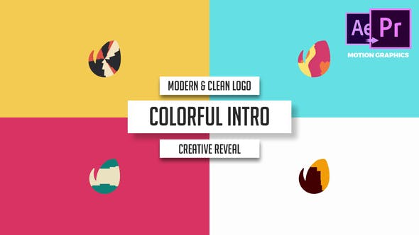 Thumbnail for Modern & Clean Logo - Colorful Intro