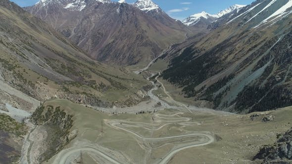 Thumbnail for Curvy Serpentine Road Pass in High Mountains