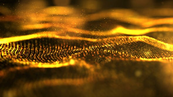 Thumbnail for Futuristic Digital Gold Abstract Particles 02