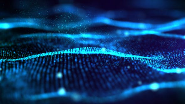 Futuristic Digital Blue Abstract Particles 02