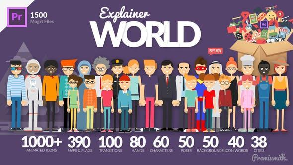 Thumbnail for Explainer World Essential Graphics | Mogrt
