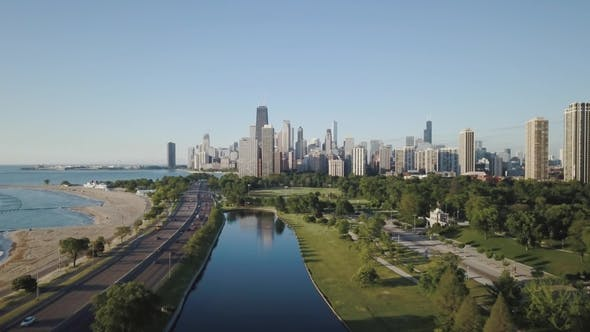 Thumbnail for Aerial Video of Chicago, Illinois During the Day.