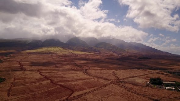 Thumbnail for Incredible Scenary of Volcanic Terrain at the Foot of Mauntains Mauna Loa with Active Crater