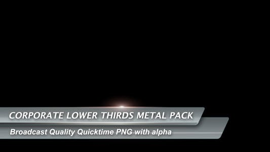 Thumbnail for Corporate Lower Thirds Metal Pack