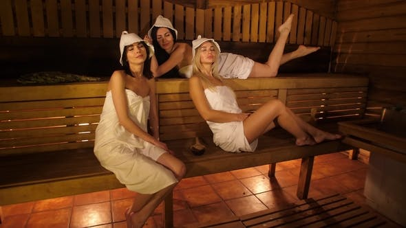 Thumbnail for Women Resting in Sauna