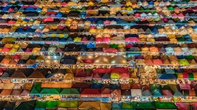 Bangkok, Thailand, Timelapse  - Bangkok's night market