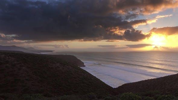 Thumbnail for Sunset in Atlantic Ocean, Morocco Coast, Africa
