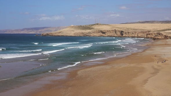 Thumbnail for Sand Beach and Rocks on Atlantic Coast, Morocco
