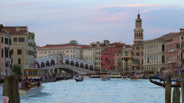 Thumbnail for View of Grand Canal and Rialto Bridge in Venice