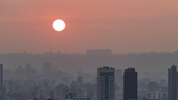 Thumbnail for Taipei, Taiwan, Timelapse  - Taipei close up Sunset