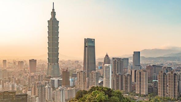 Thumbnail for Taipei, Taiwan, Timelapse  - Taipei Before the Sunset