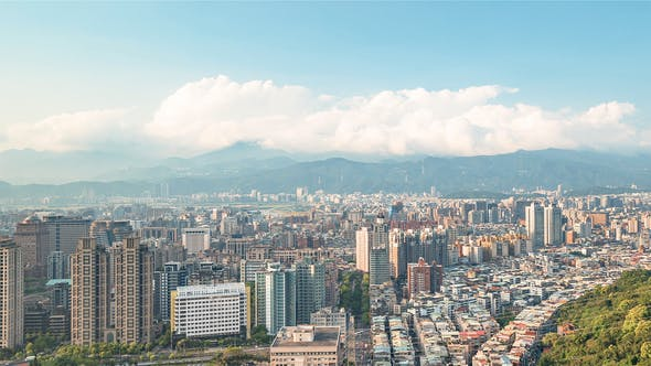 Thumbnail for Taipei, Taiwan, Timelapse  - Downtown's Taipei Before the Sunset