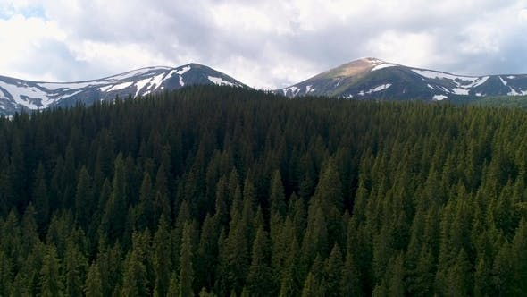 Thumbnail for Aerial Panoramic View of Mount Hoverla or Goverla, Ukraine Carpathian Mountains.