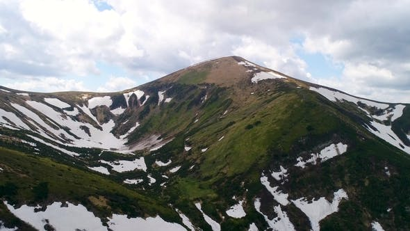 Thumbnail for Aerial Panoramic View of Mount Hoverla or Goverla, Ukraine Carpathian Mountains