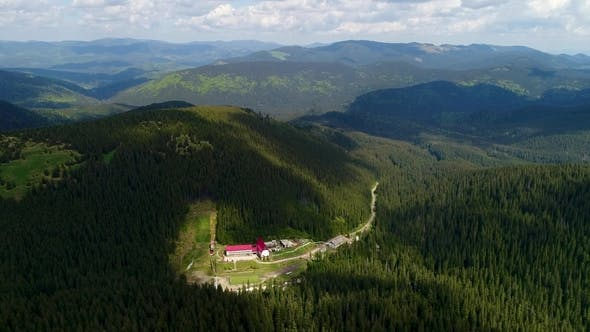 Thumbnail for Aerial View From Mount Hoverla To Other Mountains.