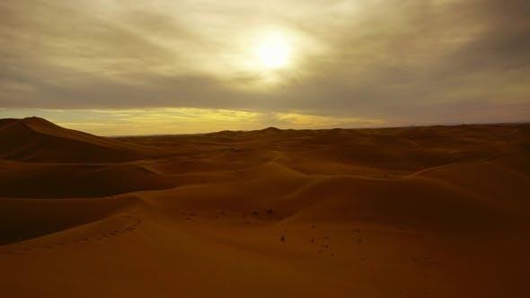 Thumbnail for Sahara Desert at Sunset, Zoom in