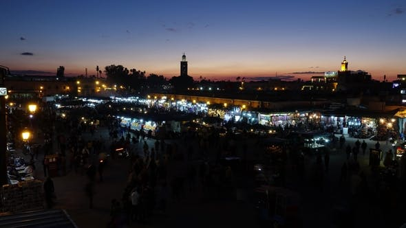 Thumbnail for Jemaa El Fna Square After Sunset, Marrakesh