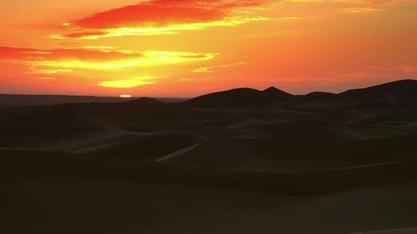 Thumbnail for Sahara Desert at Sunrise, Zoom Out