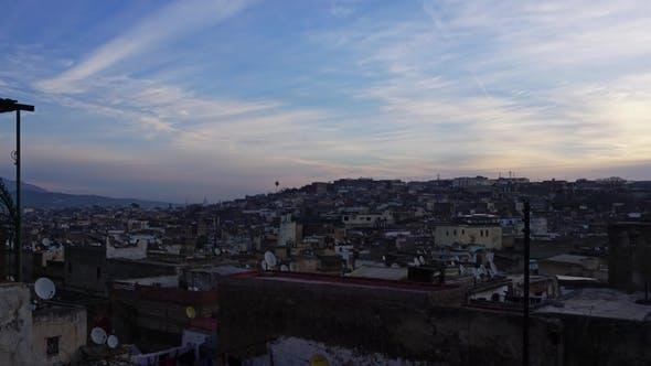 Thumbnail for Alte Medina in Fes bei Sonnenaufgang, Marokko,
