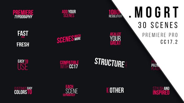 Thumbnail for Première typographie | MOGRT