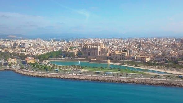 Thumbnail for Catedral De Santa Maria Palma De Mallorca. Aerial View