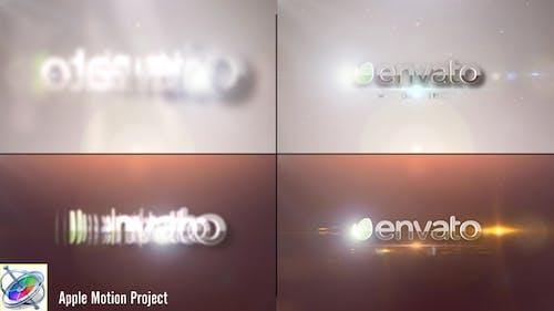 Flares Logo Reveal - Apple Motion