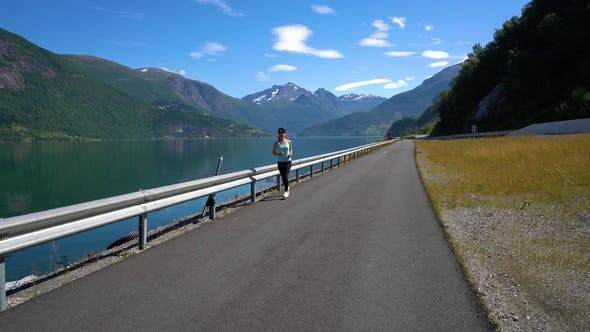 Cover Image for Woman Jogging Outdoors