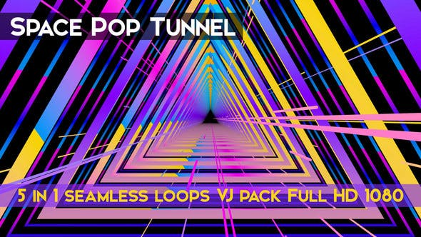 Thumbnail for Space Pop Tunnel VJ Loops
