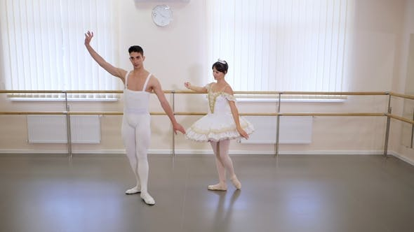 Thumbnail for Rehearsal in the Ballet Hall or Studio with Minimalism Interior