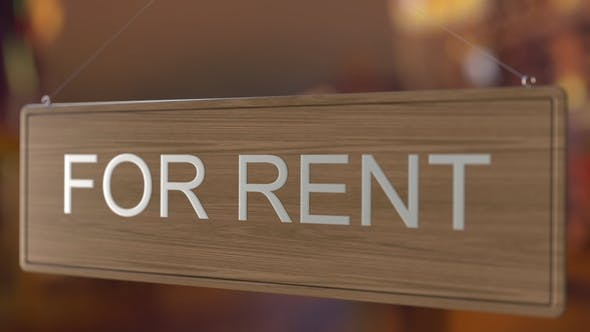 Thumbnail for Door Sign Is Turned Over From FOR RENT To RENTED