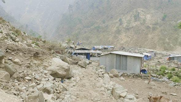 Thumbnail for Nepalese Village on the Manaslu Circuit Trek.