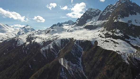 Thumbnail for Aerial View on Snow Mountains in Switzerland Alps