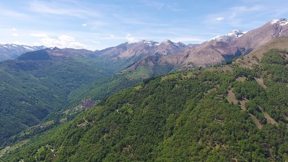 Thumbnail for Aerial View on Mountains Near Como Lake Italy