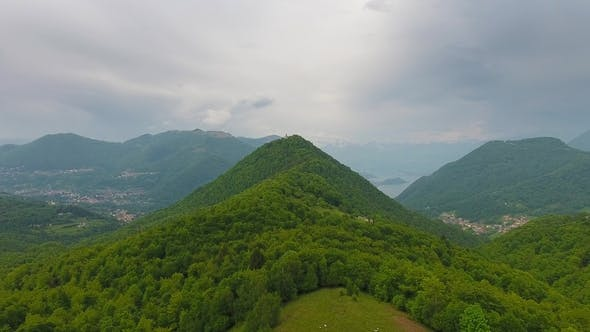 Thumbnail for Aerial Landscape Near Como Lake Italy