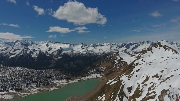 Thumbnail for Aerial View on Ritom Lake in Switzerland Alps
