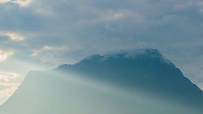 Mountain With Sunshine