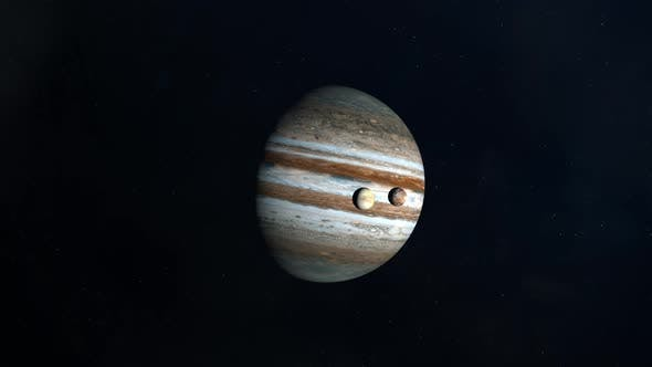 The Jovian Moons Transiting Across the Surface of Jupiter