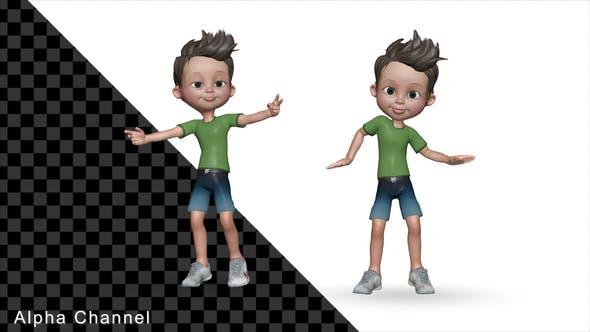 Little Boy Dancing 3d Character (2-Pack)