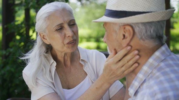 Thumbnail for Affectionate Senior Couple Talking