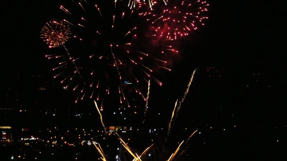 Thumbnail for Fireworks Flashing in the Evening