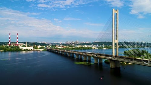 Aerial View of the South Bridge. Aerial View of South Subway Cable Bridge