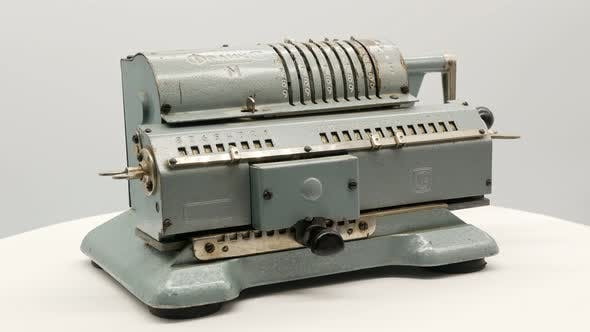 Thumbnail for Old Soviet Mechanical Calculator Adding Machine