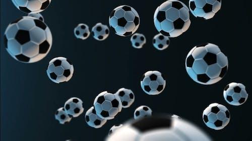 Soccer Ball Against Dark Blue