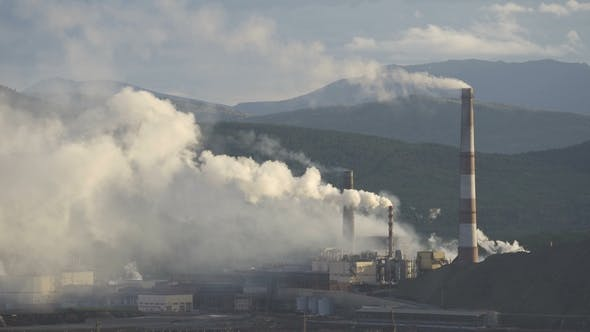 Thumbnail for Industry Pipes Pollute the Atmosphere with Smoke