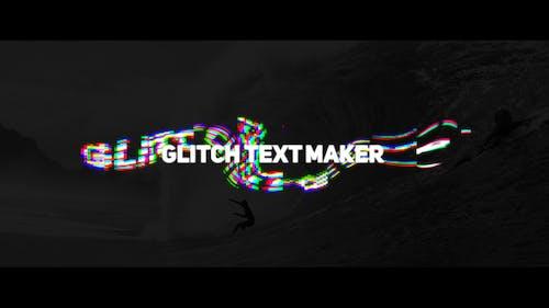 Wave Glitch Text Maker