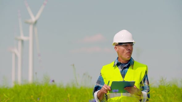 Thumbnail for Wind Turbine Inspection, Renewal Energy Concept