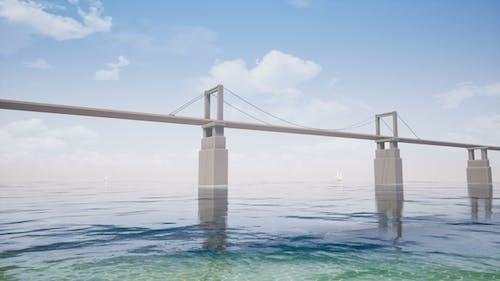 Segelboote und Bridge Sea