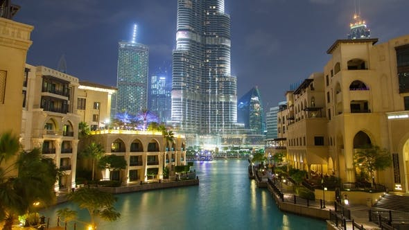 Thumbnail for Downtown Dubai Lake Night