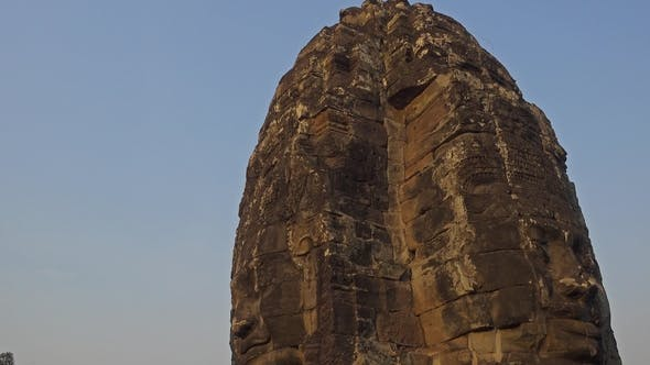 Thumbnail for Giant Stone Faces at Bayon Temple, Cambodia