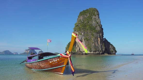 Thumbnail for Long Tail Boat on Tropical Beach, Thailand